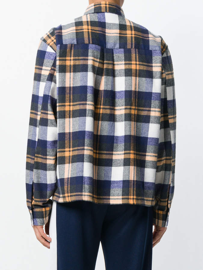Gosha Rubchinskiy patch pocket plaid shirt