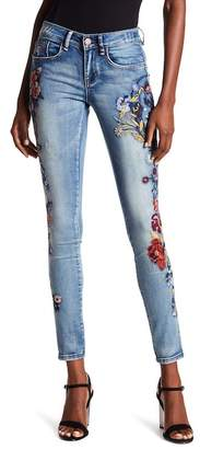 William Rast Perfect Embroidered Skinny Jeans