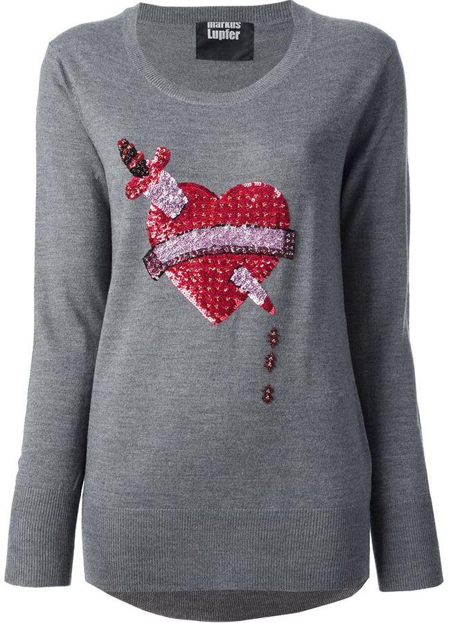 Markus Lupfer 'Bleeding Love' sequinned sweater
