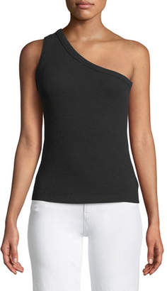 3x1 Ribbed One-Shoulder Tank Top