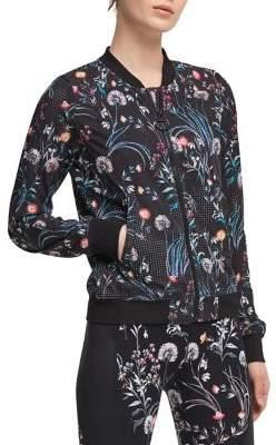 Donna Karan Active Floral Bomber Jacket