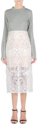 Endless Rose Grey Lace Dress