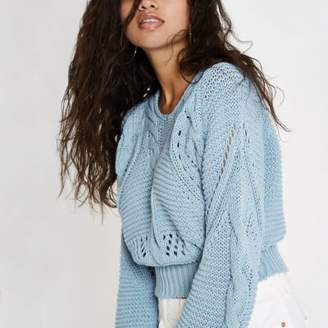 River Island Light blue chunky knot sweater