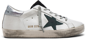 Golden Goose Leather Superstar Low Sneakers $445 thestylecure.com