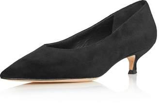 Kate Spade Women's Dale Pointed Toe Suede Kitten Heel Pumps