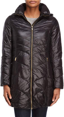 Via Spiga Black Quilted Packable Jacket