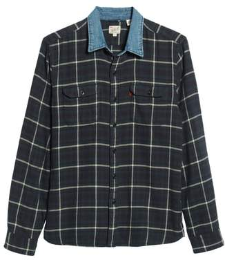 Levi's x Justin Timberlake Slim Fit Flannel Worker Shirt