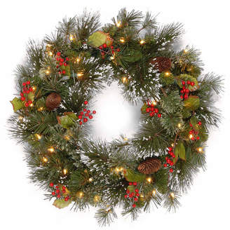 Co NATIONAL TREE National Tree Berries And Pinecones Wintry Pine Indoor/Outdoor Christmas Wreath