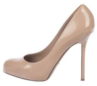 Sergio Rossi Patent Leather Round-Toe Pumps