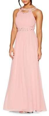 Quiz Chiffon Embellished Maxi Dress