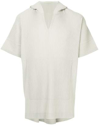 Issey Miyake Homme Plissé pleated v-neck top