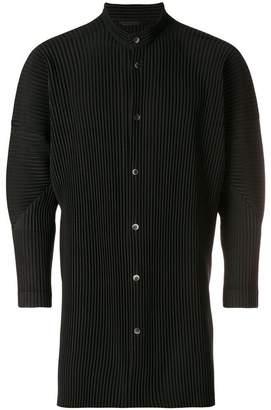 Issey Miyake Homme Plissé pleated long-sleeve shirt