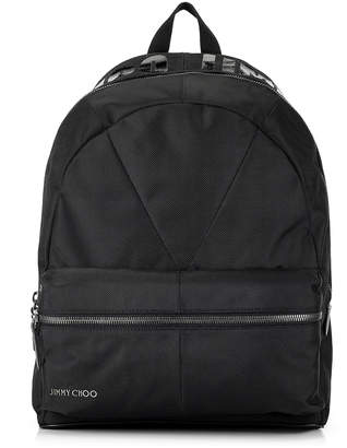 Jimmy Choo REED Black Canvas Backpack