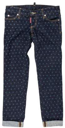 DSQUARED2 Low-Rise Cropped Jeans