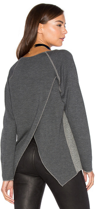 Nation LTD Rosemary Cross Back Sweatshirt $129 thestylecure.com