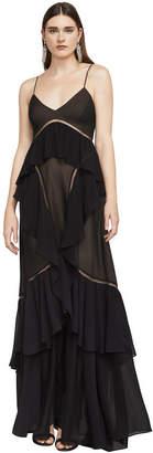 BCBGMAXAZRIA Penn Silk Chiffon Gown