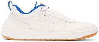 Champion Reverse Weave White Leather Super C Court Classic Sneakers