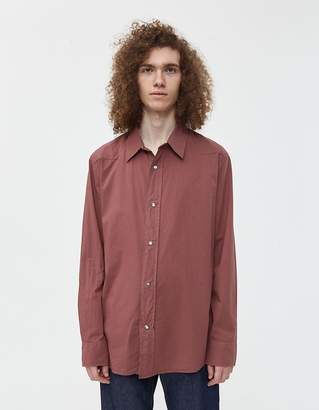Our Legacy Delicate Voile Frontier Shirt in Wine