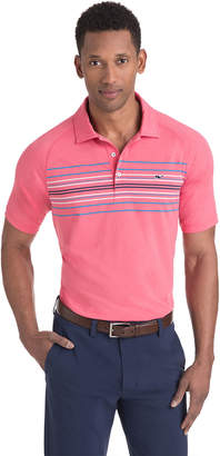 Vineyard Vines Murphy Engineer Stripe Sankaty Performance Polo