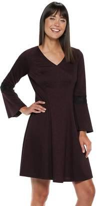 Elle Women's Lace-Trim Fit & Flare Dress