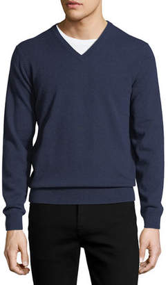 Neiman Marcus Cloud Cashmere V-Neck Sweater