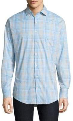 Peter Millar Wallace Performance Plaid Button-Down Shirt