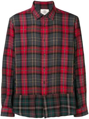 Kent & Curwen contrast plaid shirt
