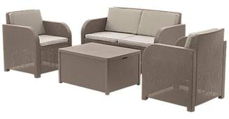 John Lewis & Partners Oasis 4 Seater Outdoor Lounging Table and Chairs Set
