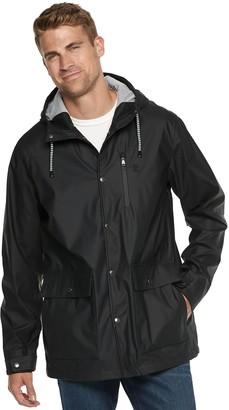 Izod Men's Hooded Rain Jacket
