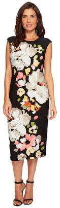 London Times Printed Matte Jersey Repeat Dress Women's Dress