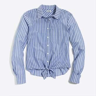 J.Crew Factory Printed tie-waist shirt