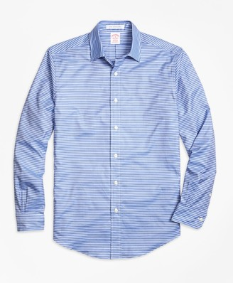 Brooks Brothers Madison Fit Horizontal Stripe Sport Shirt