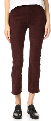 Vince Stretch Suede Leggings $995 thestylecure.com