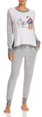 Jane & Bleecker New York Shopping & Stripes Sweater-Knit Long PJ Set - 100% Exclusive