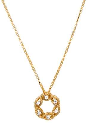 Roberto Coin New Barocco18K Yellow Gold 0.06ct Diamond Small Circle Pendant Necklace