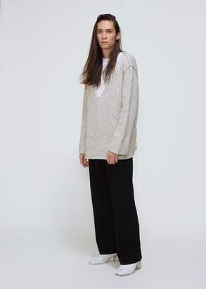 Deveaux Cashmere Tweed Oversized V-Neck