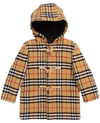 Burberry Brogan Hooded Wool Toggle Coat