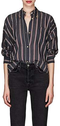 Etoile Isabel Marant Women's Ycao Striped Cotton-Blend Voile Shirt