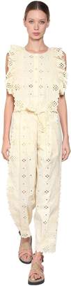 Alberta Ferretti Cotton Blend Lace Jumpsuit