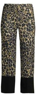 Smythe Leopard Camo Crop Pants