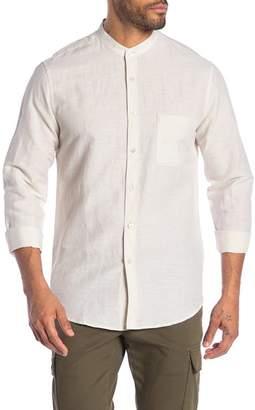 Theory Rammy Mandarin Collar Shirt