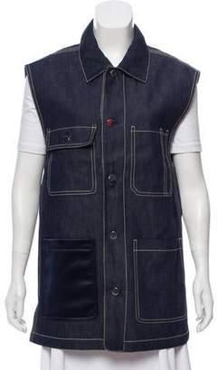 3.1 Phillip Lim Denim Button-Up Vest w/ Tags