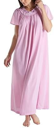 Shadowline Women's Petals 53 Inch Short Flutter Sleeve Long Gown