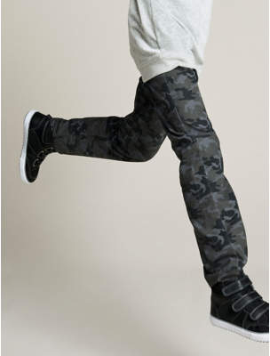 George Camouflage Print Trousers