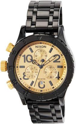 Nixon 38mm 38-20 Chrono Bracelet Watch, Black/Golden