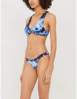 Frankie's Bikinis Frankies Bikinis x Sofia Richie Sunny tie-dyed print bikini top