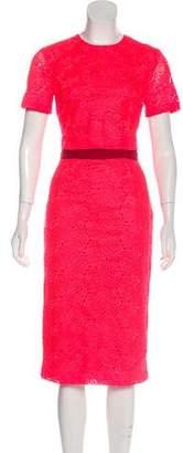 A.L.C. Lace Short Sleeve Knee-Length Skirt Set