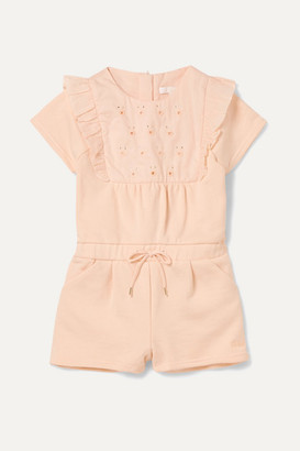 Chloé Kids - Months 6 - 18 Embroidered Cotton-terry Onesie