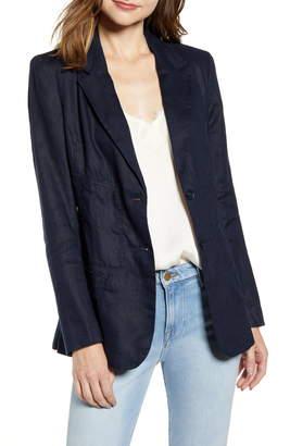 Chelsea28 Corset Menswear Linen Blazer