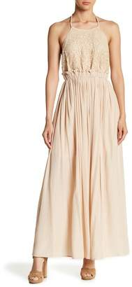 Moon River Halter Maxi Dress